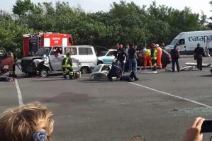 [San Stino: una simulazione d'incidente per sensibilizzare alla sicurezza stradale]