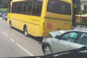 [Auto contro autobus: ferito lieve il conducente dell'utilitaria]