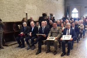 [A G. Bandiziol, L. D'Anna, E. Dotoli e L. Turchetto il Premio Eccellenze 2017]