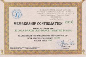 [La Dance Theatre School di Portogruaro riconosciuta dal CID Unesco Paris]