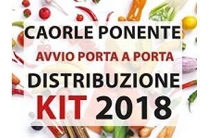 [Caorle Ponente: martedì 16 gennaio inizia la distribuzione del kit Asvo porta a porta]