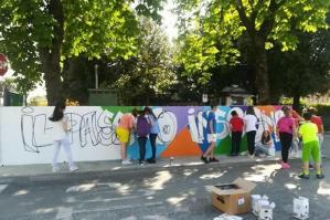 [Il passato insegna, opera di street art ad Annone Veneto]