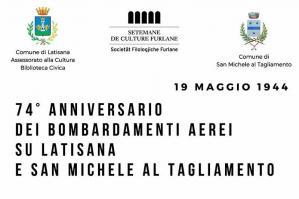 [Latisana e San Michele ricordano le vittime dei bombardamenti del 1944]