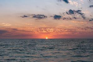 [L'alba nella laguna di Caorle]