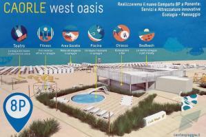 [Caorle West Oasis: chiosco con piscina nel 2019]