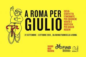 """[Portogruaro prima tappa della ciclostaffetta \""""A Roma per Giulio\""""]"""