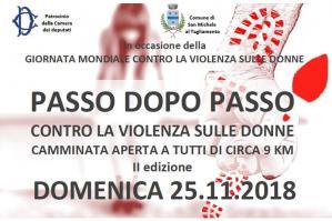 [San Michele, le iniziative per la Giornata Mondiale contro la Violenza sulle Donne]