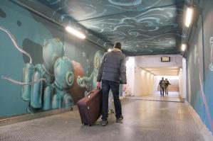 [Latisana, inaugurazione del murales del sottopasso ferroviario  ]