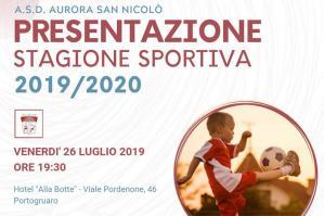 [ASD Aurora San Nicolò: per la stagione 2019/2020 un'altra sfida educativa]