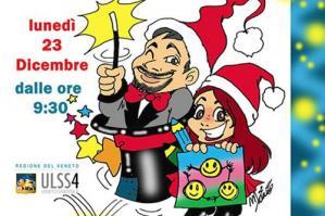 [Un Natale di arte e magia in Pediatria a Portogruaro]