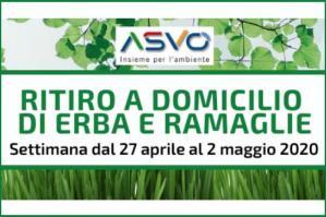 [Asvo, raccolta erba e ramaglie dal 27 aprile al 2 maggio]