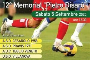 """[12° Memorial """"Pietro Disarò"""" sabato a Villanova]"""