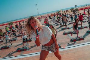[Successo di partecipazione alla Beach Volley Marathon e alla Bibione Beach Fitness]