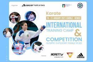 [La karateka Sara Cardin a Caorle per l\'International Training Camp ]