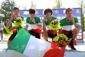 [Il portogruarese Ares Costa  campione italiano della cronometro a squadre di ciclismo]